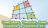 Problema de Geometría 961 (English ESL): Cuadrilátero, Trisección de Lados, Suma de Áreas