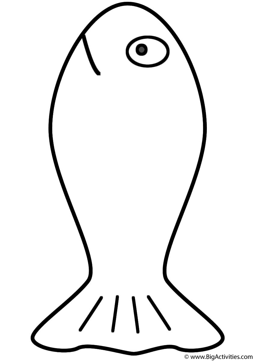 Goldfish - Coloring Page (Fish)