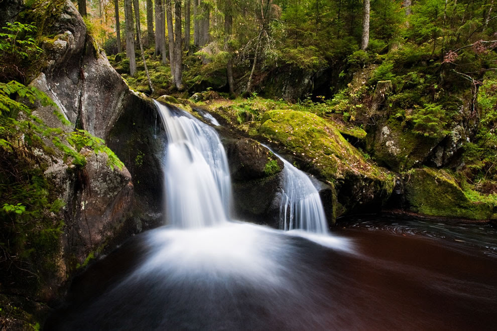 Krai Woog Gumpen is a waterfall in the Hotzenwald, a remote part of the southern Black Forest