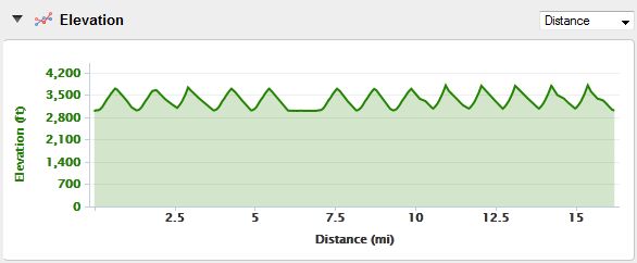 Garmin FR910XT Skiing Altitude Afterwards