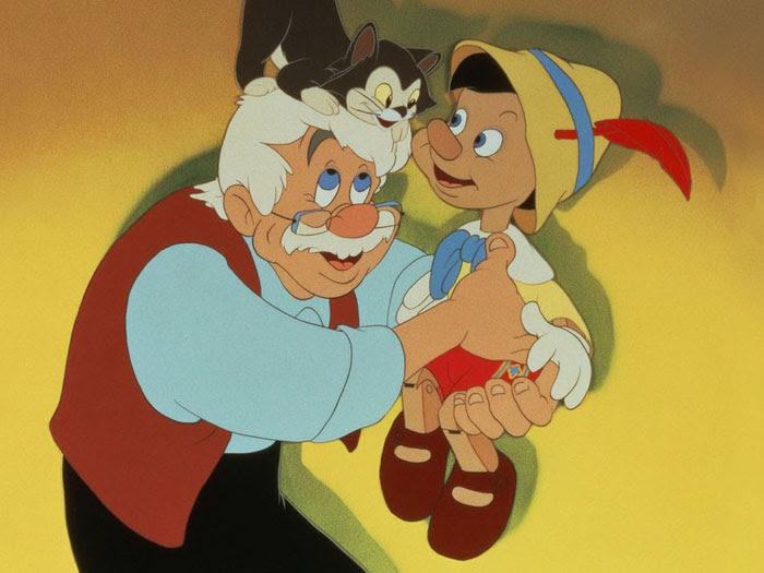 O boneco de madeira Pinóquio, do filme da Disney de 1940, é criado pelo velho e amoroso Gepeto. Por querer ser um menino de verdade, Pinóquio cai em uma ar...