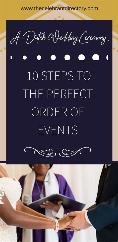A Dutch wedding ceremony: 10 steps to the perfect order of