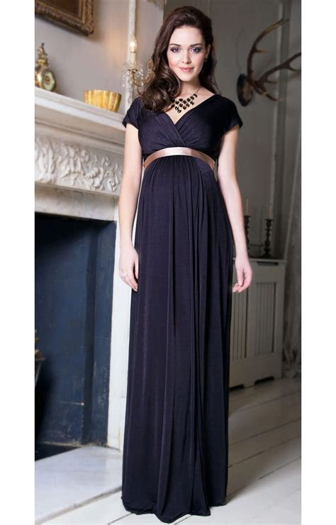 Alessandra Maternity Gown Long (Liquorice)   Maternity