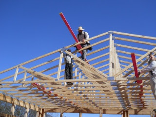 Stabilizing and Securing House Roof Trusses