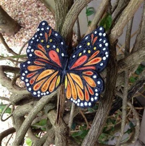 Beautiful Quilled Monarch Butterfly   AllFreePaperCrafts.com