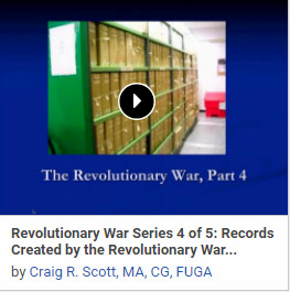 Revolutionary War Series 4 of 5: Records Created by the Revolutionary War After the War - Pensions