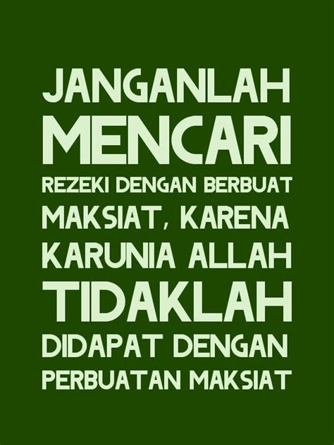 kata kata mutiara islam tentang rezeki