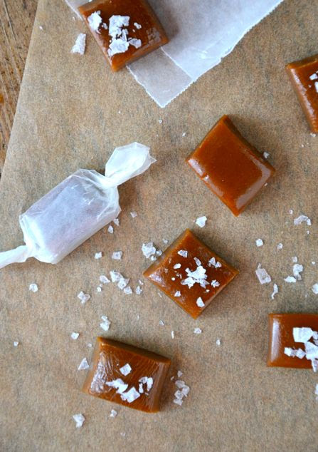 just a taste - salted caramels.