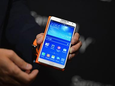 Samsung Galaxy Note 3 is seen in this file photo. AFP