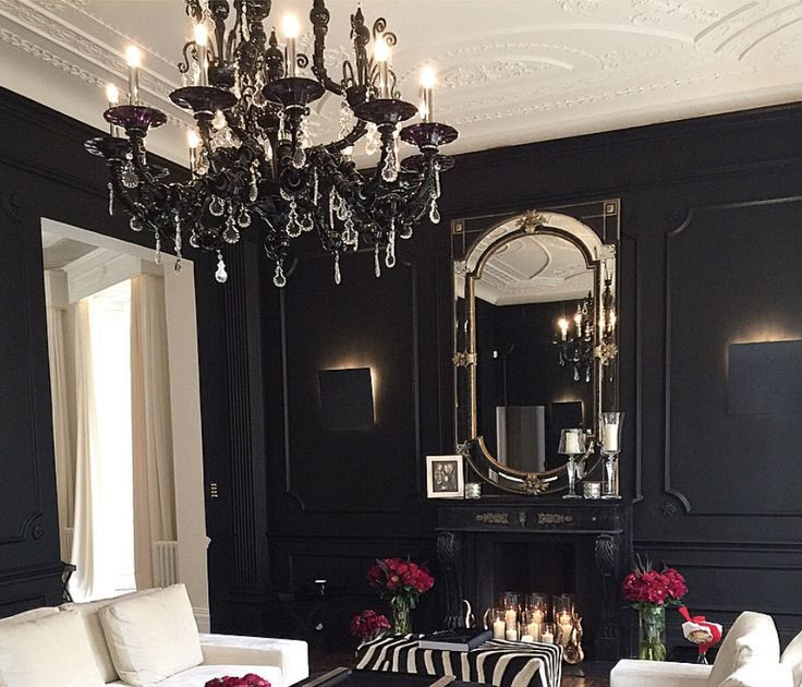 30 Black White Living Rooms That Work Their Monochrome Magic: Wall Black And White Decor Ideas For Living Room