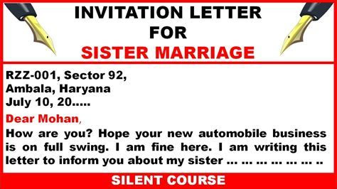 Write a Letter To Your Friend Inviting Him/Her To Your