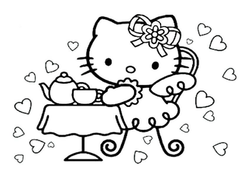 gratis malvorlagen hello kitty geburtstag