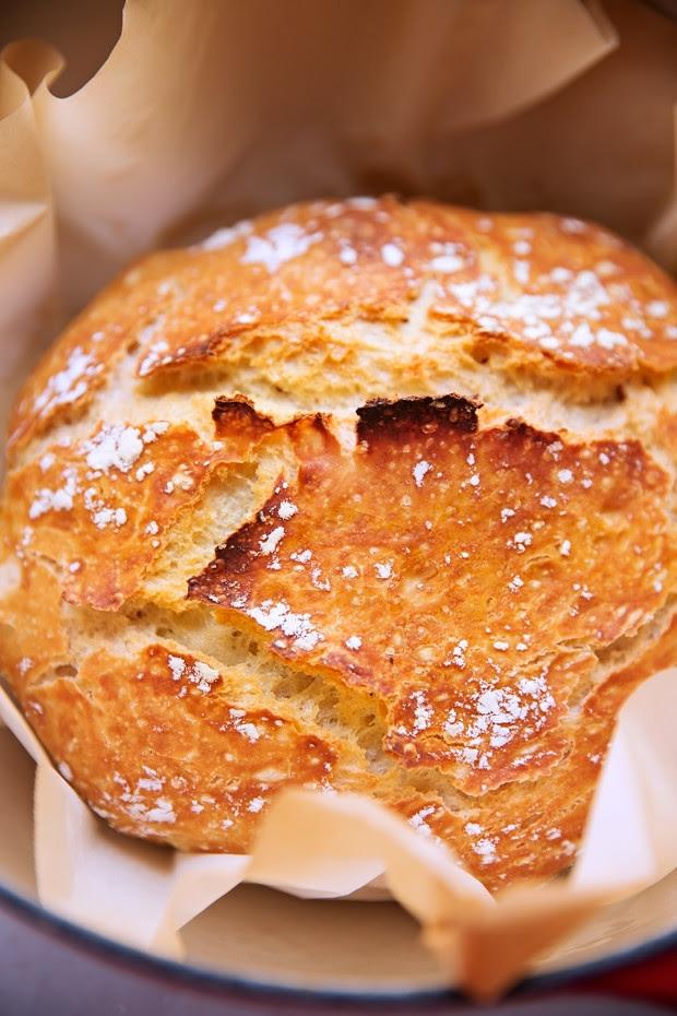 No-Knead Artisan Style Dutch Oven Bread Recipe | Little ...