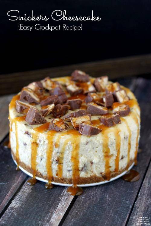 Homemade Snickers Cheesecake