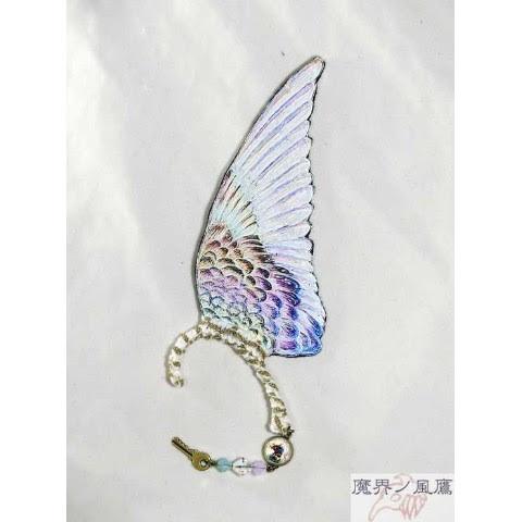 魔界ノ風鷹イラスト翼のイヤーフック白87 雑貨通販 ヴィレッジ