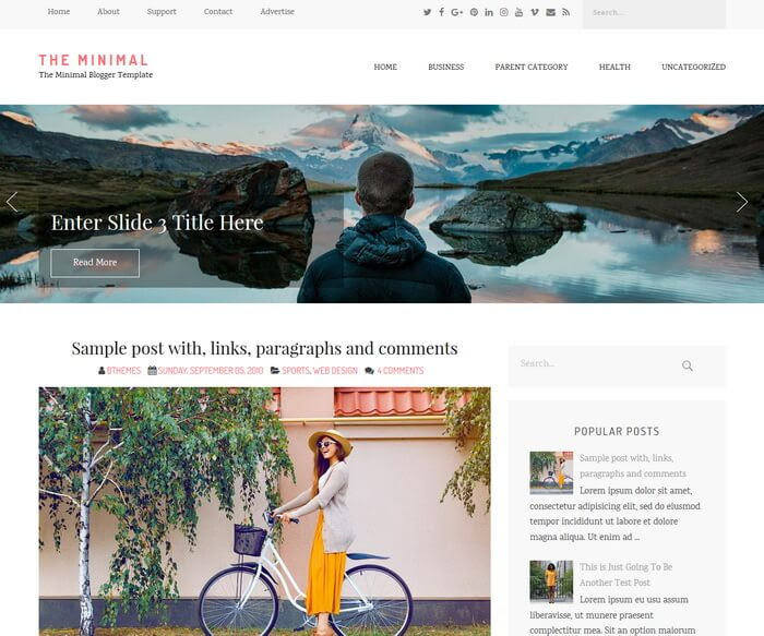 The Minimal Blogger Template