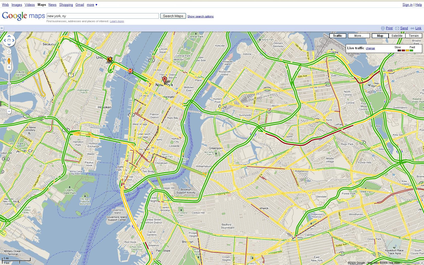 Google Maps Your Commute Takes To The Side Streets