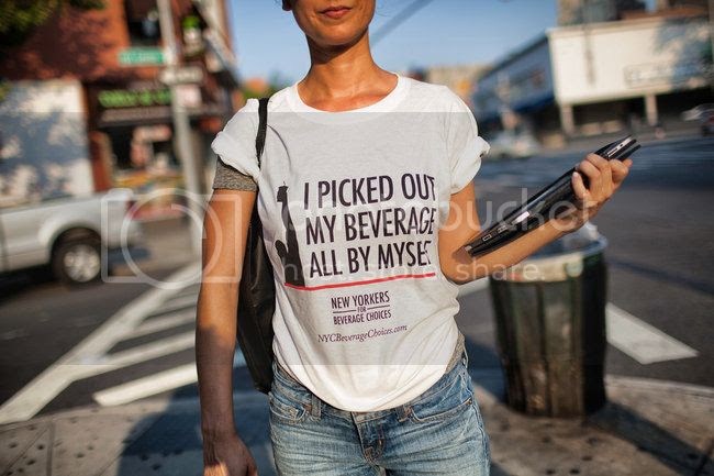 'Protest' t-shirt from Big Soda reading 'I picked out my beverage all by myself.'