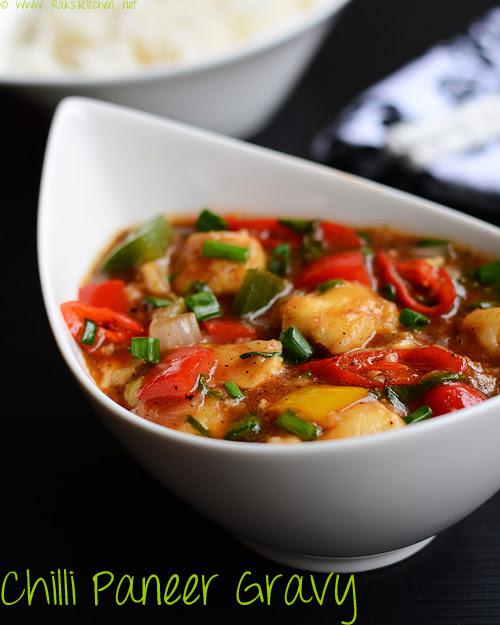 Chilli paneer gravy recipe how to make chilli paneer gravy raks chilli paneer gravy recipe forumfinder Images