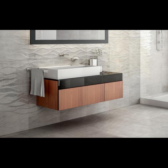 Coast Gris 33x55 Gloss Ceramic Kitchen and Bathroom Wall Tiles