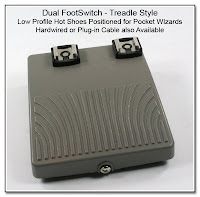 LT1026: Dual FootSwitch - Treadle Style - Low Profile Hot Shoes Positioned for PW's