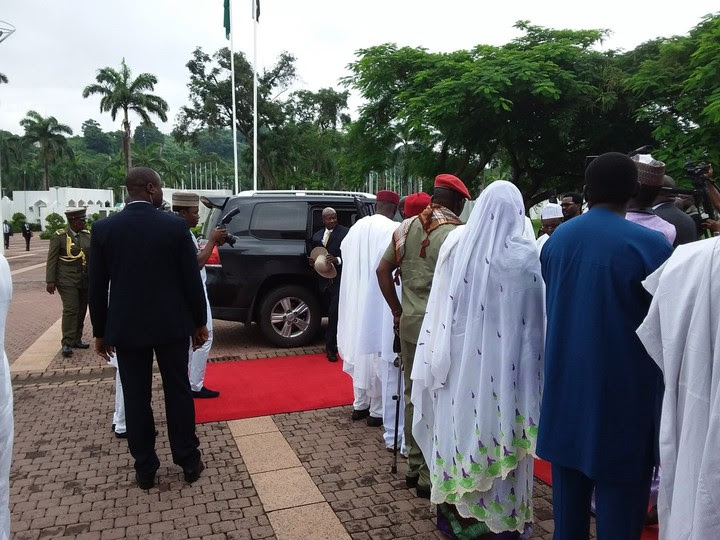 President Buhari Receives President Museveni Of Uganda At The State House (Photos)