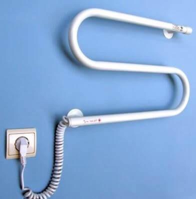 Установка электрического полотенцесушителя в ванной своими руками