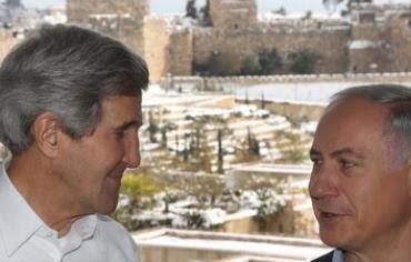 Kerry and Netanyahu in Jerusalem, December 13, 2013