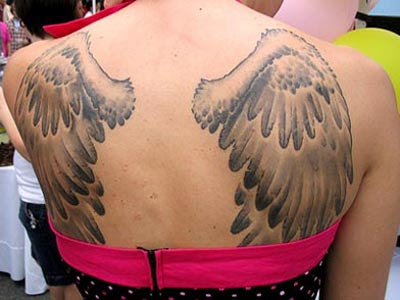 Angel Wings Tattoo Designs On Back