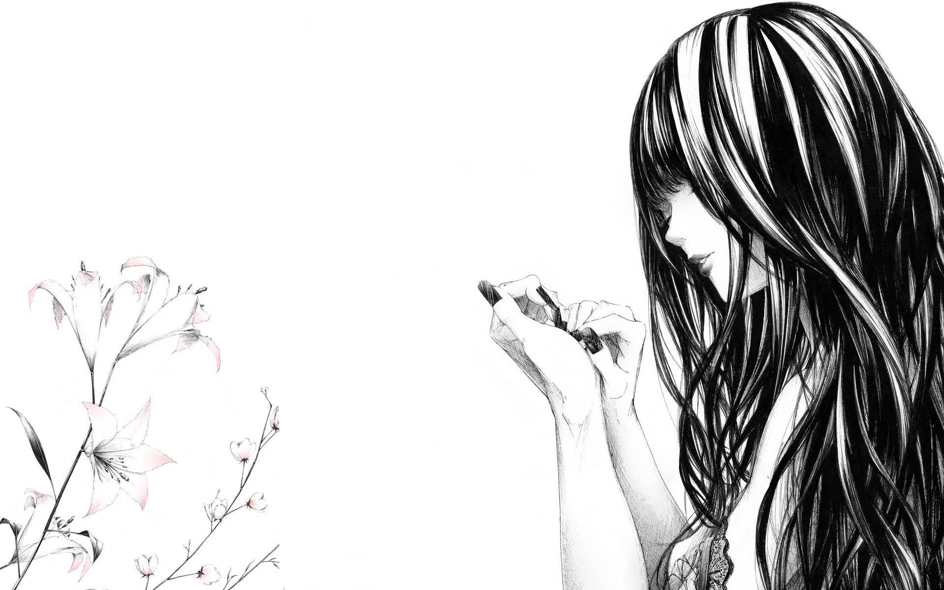 Free Black And White Girl Wallpaper Download Free Clip Art Free