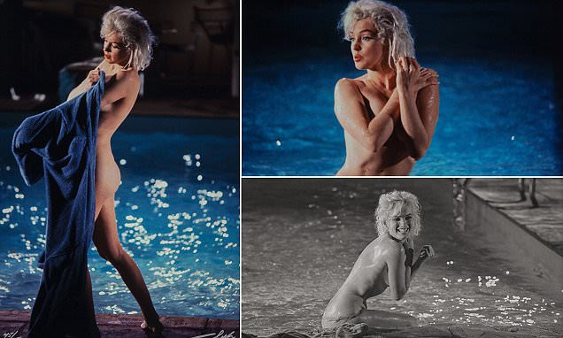 Rare photos of Marilyn Monroe swimming naked up for sale