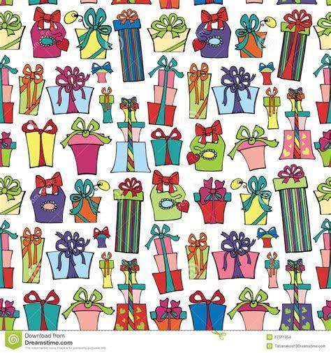 Gift Box Seamless Pattern.Flat Doodle Stock Photo   Image