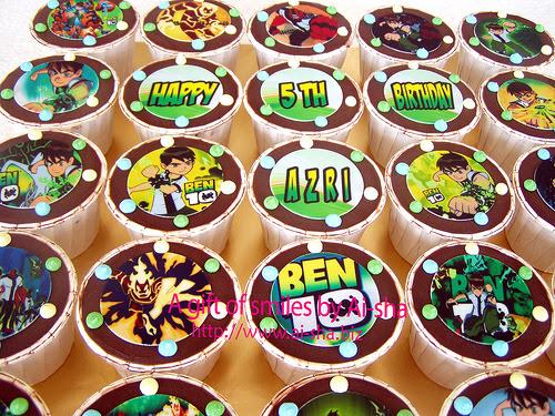 Birthday Cupcake Edible Image Ben10 Ai-sha Puchong Jaya