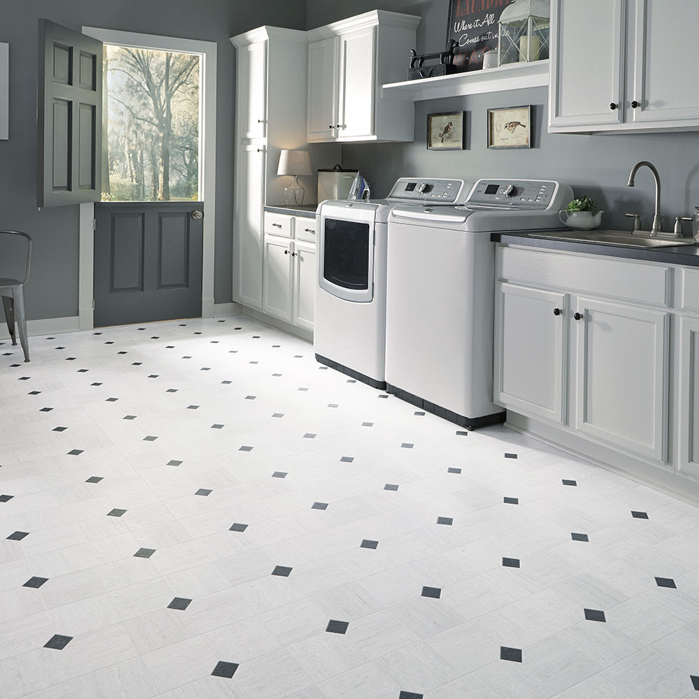 Luxury vinyl tile sheet floor art deco layout design ...