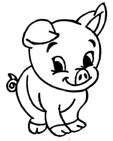 cute animal pig coloring pages kids coloring pages