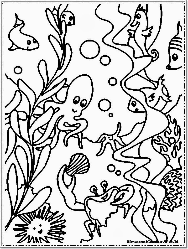 Gambar Kartun Dalam Laut Bestkartun