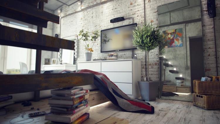 home 5b4 Loft Style Living Visualizations