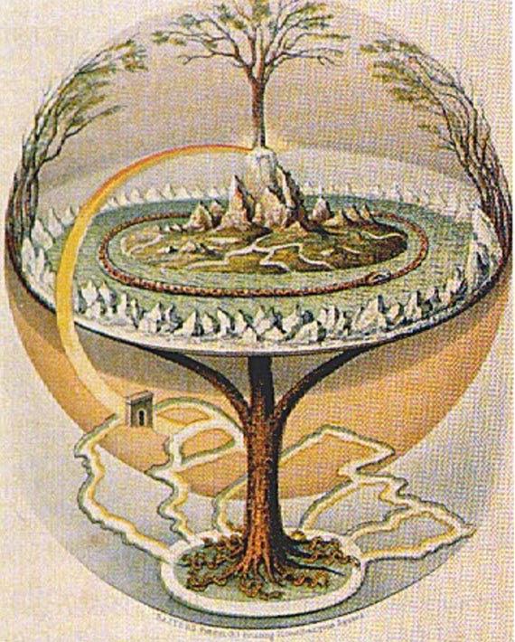 The Yggdrasil from Prose Edda, 1847.