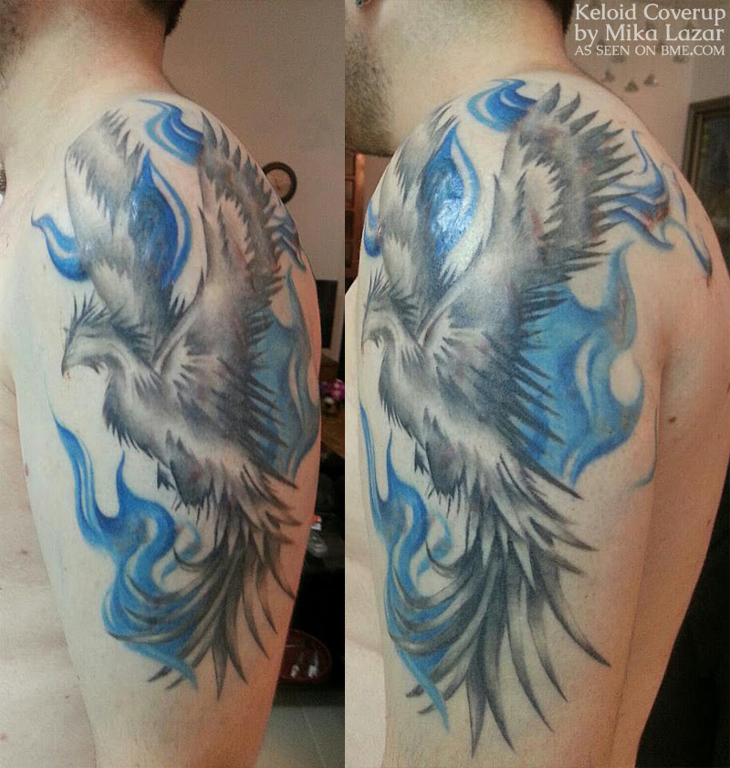 Keloid To Phoenix Bme Tattoo Piercing And Body Modification News