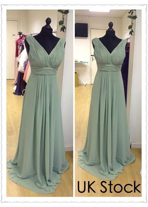 sage green Grecian style prom/evening/wedding bridesmaid