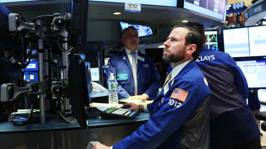 NYSE Trader on the floor