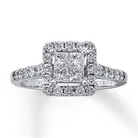 Diamond Engagement Ring 1 ct tw Diamonds 14K White Gold