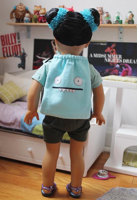 Inky's new school bag