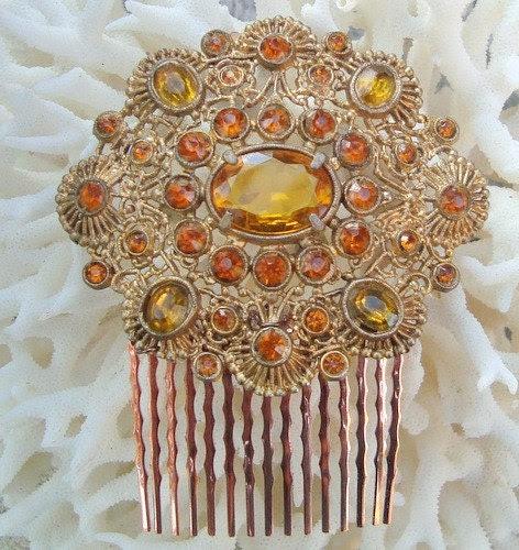 Gold Byzantine hair comb