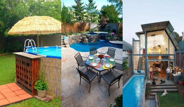 Amazing! 28 Fabulous Small Backyard Designs With Swimming