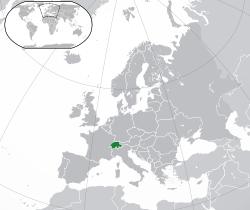 Vị trí của Thụy Sĩ