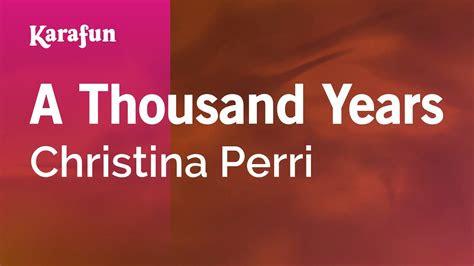 karaoke  thousand years christina perri youtube