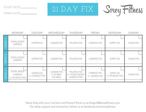 piyo  day fix hybrid calendar    amazing friend diet
