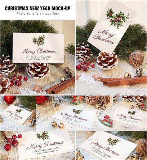 Christmas card mockup set   Free download
