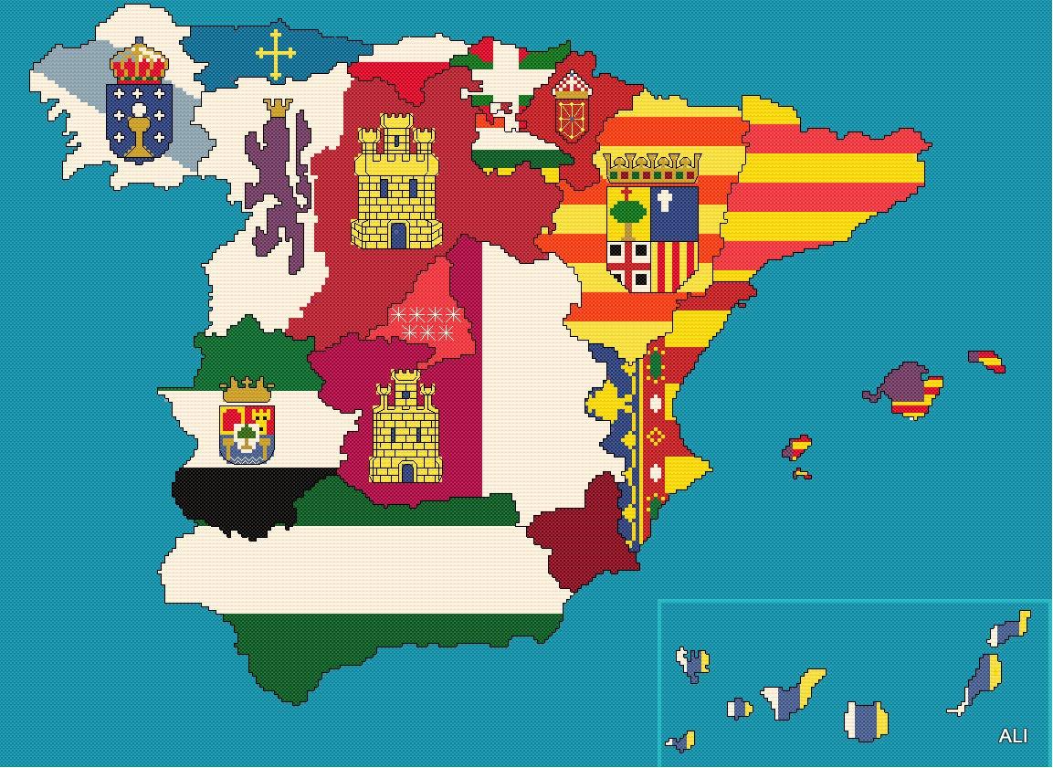 Resultado de imagen de España y sus banderas